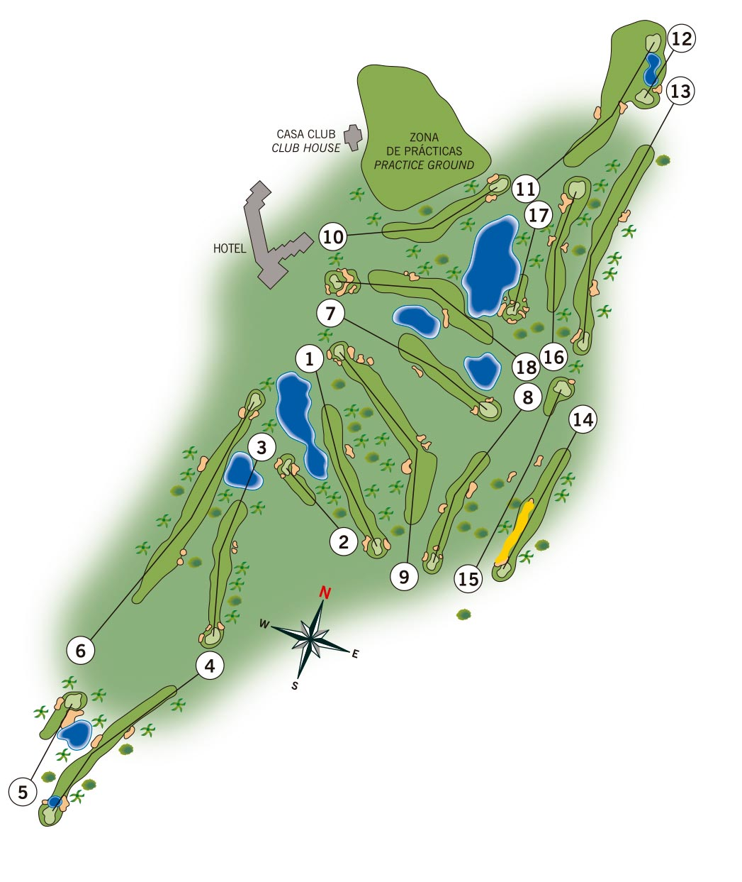 Map Of Spain La Manga.South Course La Manga Club