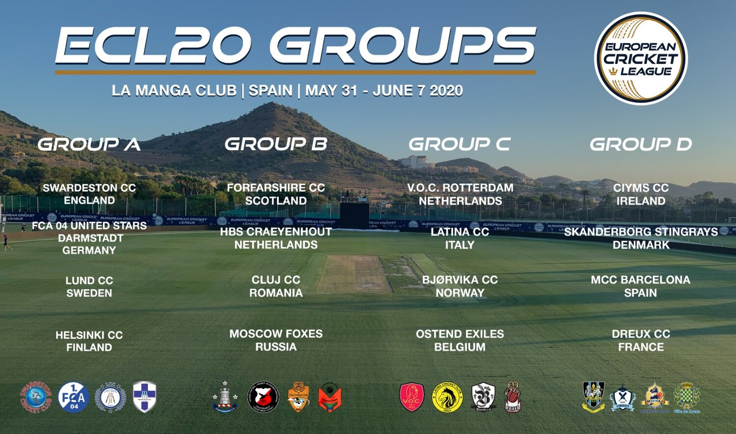 draw european cricket league